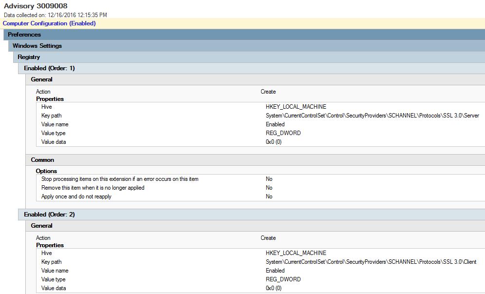 Disable SSLv3 (Windows)   VerifyIT