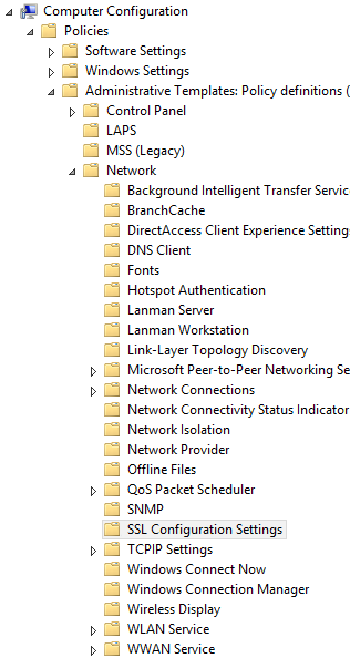 Configure the 'SSL Cipher Suite Order' Group Policy Setting